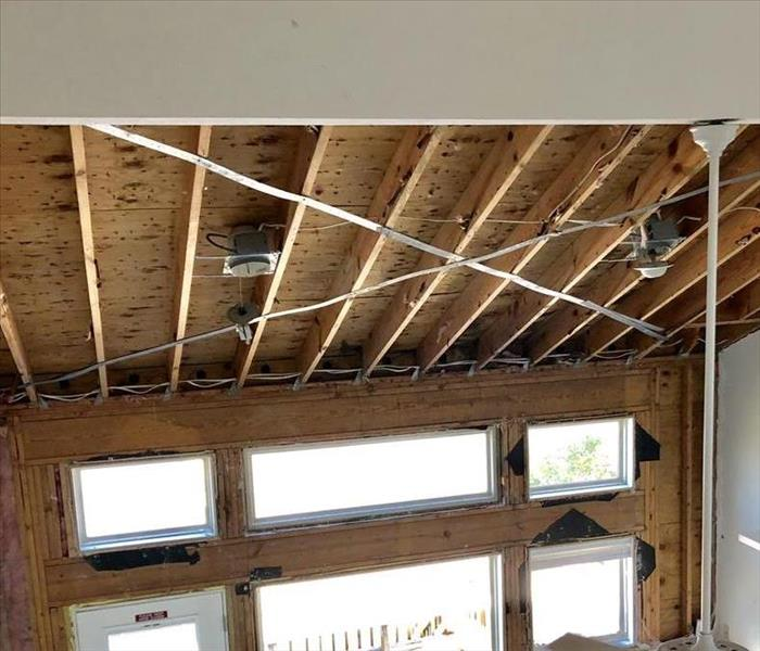 Wind or water damage to your home After
