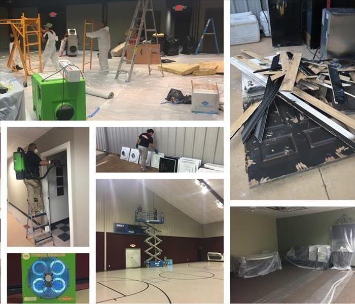 Nacogdoches Texas Church needs help cleaning up after fire.  Before