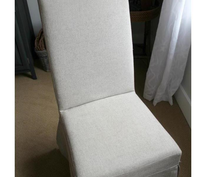 The same chair after a SERVPRO cleaning.