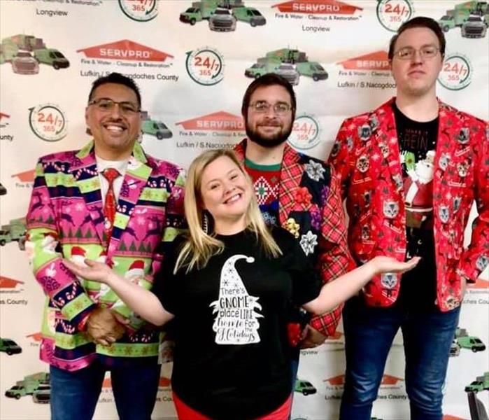 The Sales Marketing Team Dressed Up In Colorful Christmas Blazers Ready To Teach A Biohazard CE