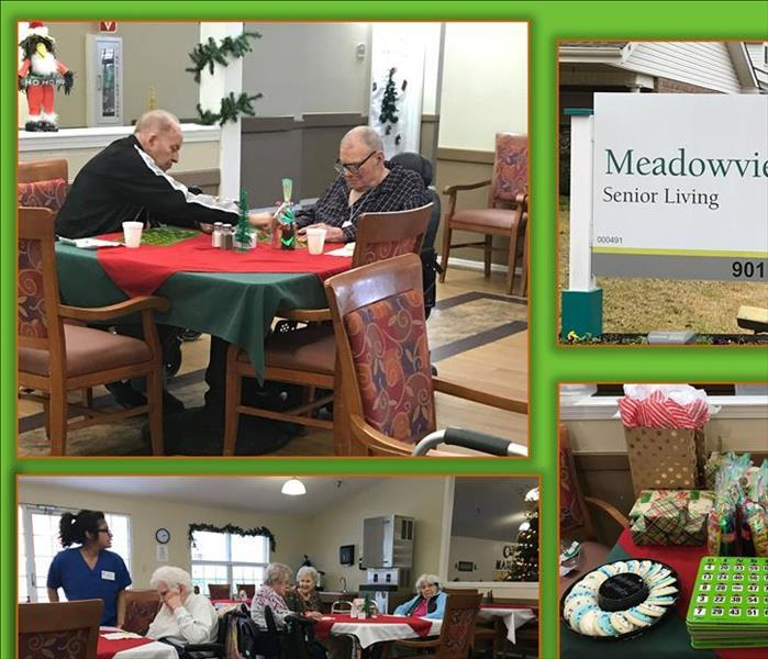 SERVPRO of Lufkin Helps Spread Christmas Cheer to one of our Local Nursing Homes, Meadowview Place
