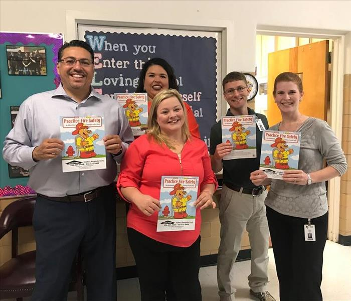 SERVPRO Donates Educational Coloring Books to Raguet Elementary School in Nacogdoches