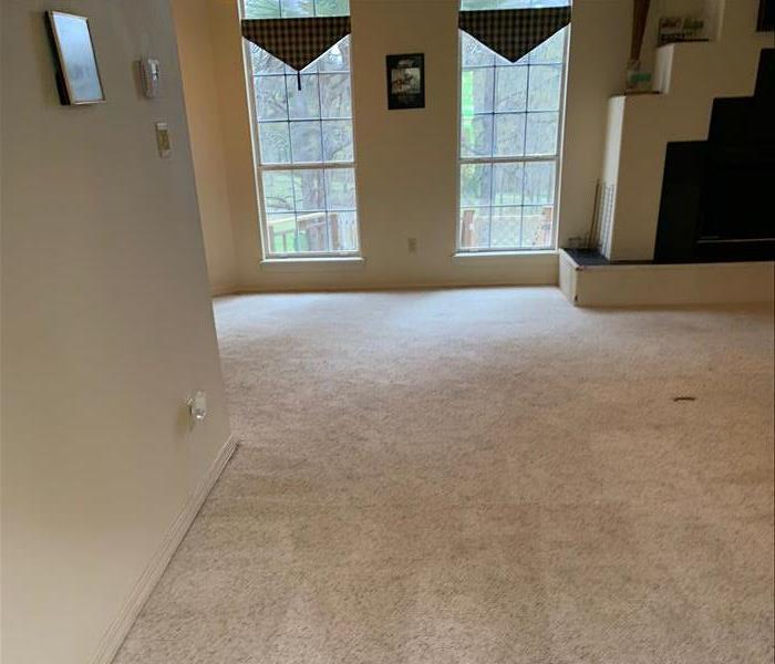 A fresh, clean carpet after a SERVPRO cleaning.
