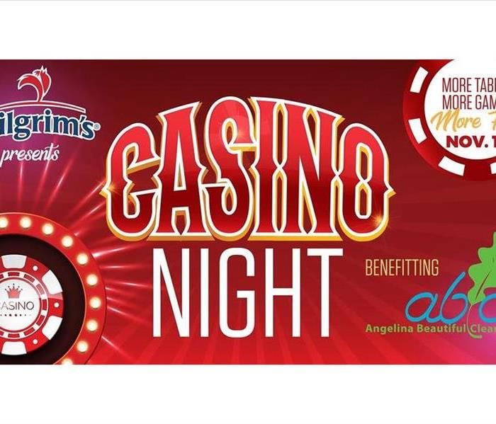 Casino Night written in large letters over colorful graphics.