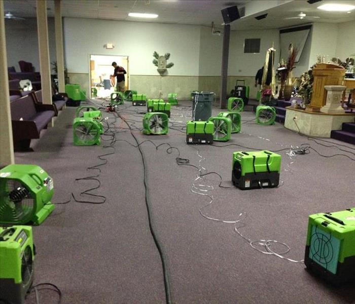 Water Damage Flooded Church In San Augustine Texas